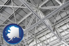 alaska map icon and a prefabricated ceiling