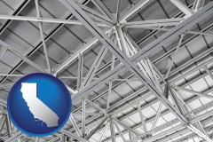 california map icon and a prefabricated ceiling