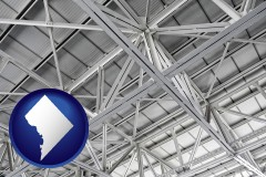 washington-dc map icon and a prefabricated ceiling