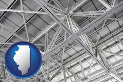 illinois map icon and a prefabricated ceiling