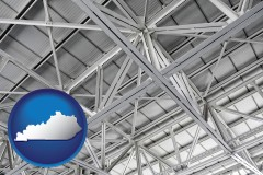 kentucky map icon and a prefabricated ceiling
