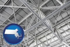 massachusetts map icon and a prefabricated ceiling