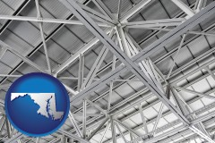 maryland map icon and a prefabricated ceiling