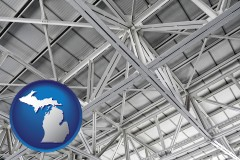 michigan map icon and a prefabricated ceiling