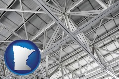 minnesota map icon and a prefabricated ceiling