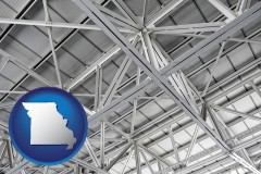 missouri map icon and a prefabricated ceiling