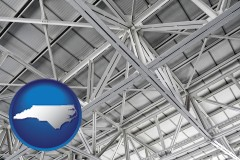 north-carolina map icon and a prefabricated ceiling