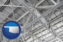 oklahoma map icon and a prefabricated ceiling