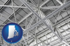 rhode-island map icon and a prefabricated ceiling