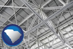 south-carolina map icon and a prefabricated ceiling