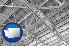 washington map icon and a prefabricated ceiling