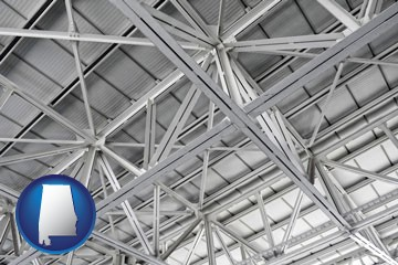 a prefabricated ceiling - with Alabama icon