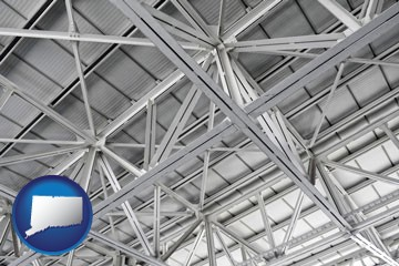 a prefabricated ceiling - with Connecticut icon