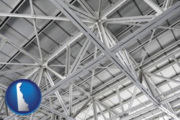 a prefabricated ceiling - with Delaware icon