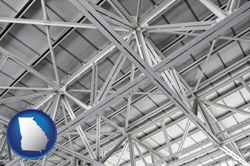 a prefabricated ceiling - with Georgia icon