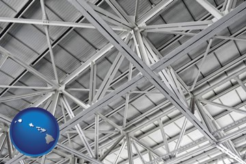 a prefabricated ceiling - with Hawaii icon
