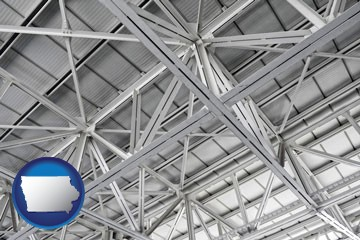 a prefabricated ceiling - with Iowa icon