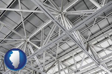 a prefabricated ceiling - with Illinois icon