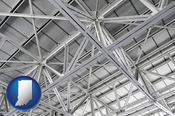 a prefabricated ceiling - with Indiana icon