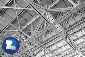 a prefabricated ceiling - with Louisiana icon