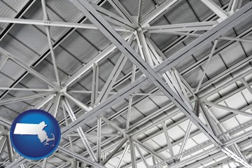 a prefabricated ceiling - with Massachusetts icon