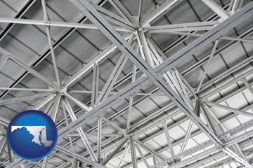 a prefabricated ceiling - with Maryland icon