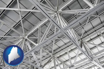 a prefabricated ceiling - with Maine icon