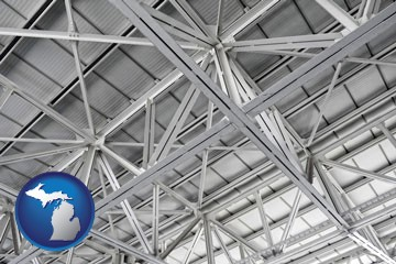 a prefabricated ceiling - with Michigan icon