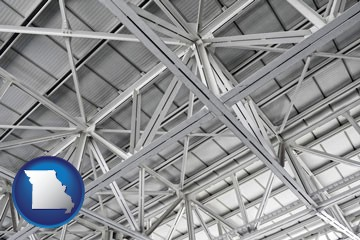 a prefabricated ceiling - with Missouri icon