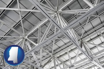 a prefabricated ceiling - with Mississippi icon