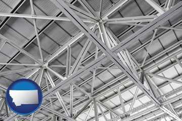a prefabricated ceiling - with Montana icon