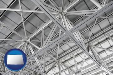a prefabricated ceiling - with North Dakota icon