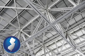a prefabricated ceiling - with New Jersey icon