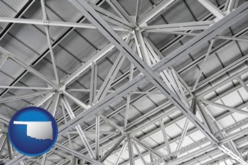 a prefabricated ceiling - with Oklahoma icon