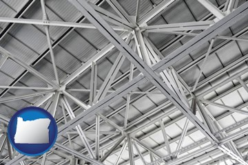 a prefabricated ceiling - with Oregon icon