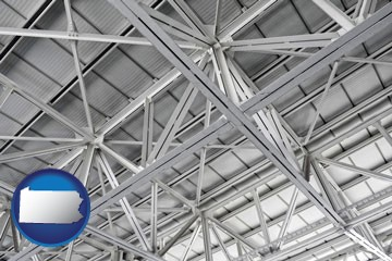 a prefabricated ceiling - with Pennsylvania icon