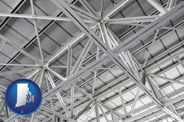 a prefabricated ceiling - with Rhode Island icon