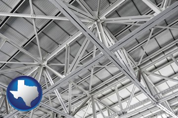 a prefabricated ceiling - with Texas icon