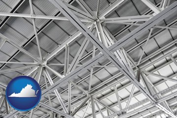 a prefabricated ceiling - with Virginia icon