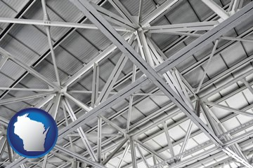 a prefabricated ceiling - with Wisconsin icon