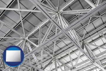 a prefabricated ceiling - with Wyoming icon